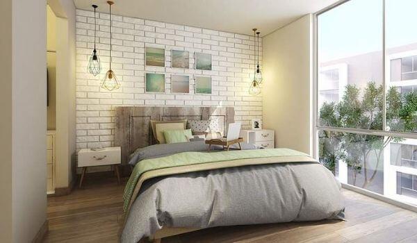 Phòng ngủ của căn hộ chung cư diện tích nhỏ