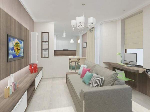 Thiết kế căn hộ 60m2 với gam màu sáng