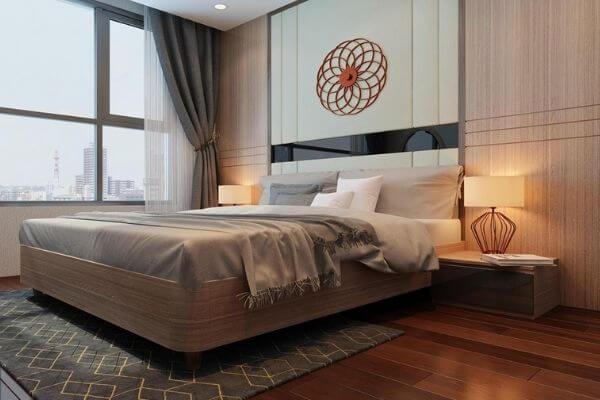 Thiết kế chung cư 70m2 đẹp trong phòng ngủ