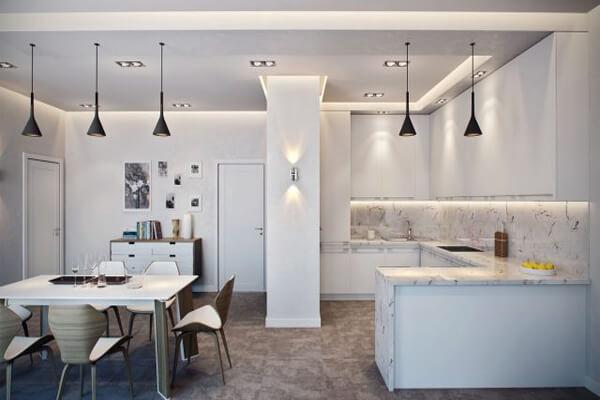 Thiết kế nhà chung cư có phòng bếp rộng
