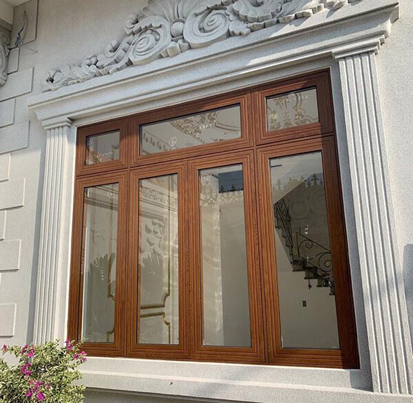 Mẫu cửa sổ gỗ 4 cánh đẹp nhất cho biệt thự
