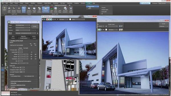 Phần mềm Autodesk 3Ds Max thiết kế nhà