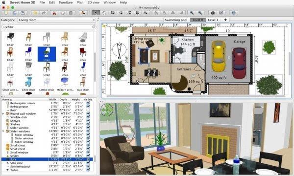 Phần mềm thiết kế nhà Sweet Home 3D