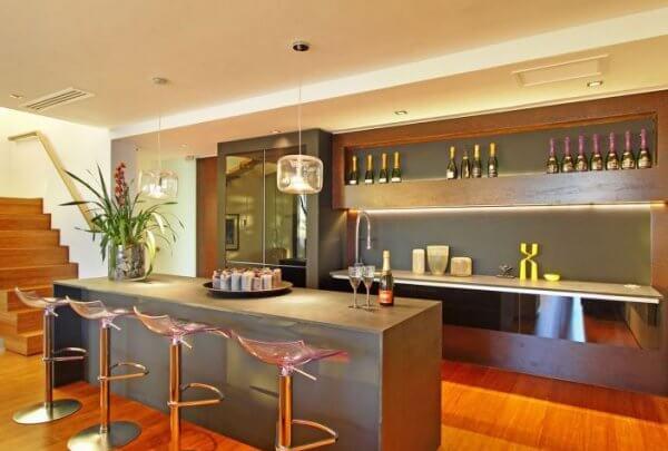 Quầy bar thích hợp với nhà gỗ